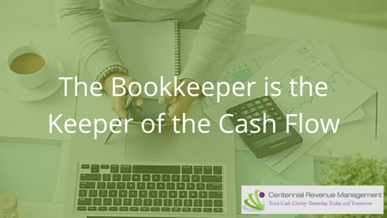 bookkeeper calculating cash flow