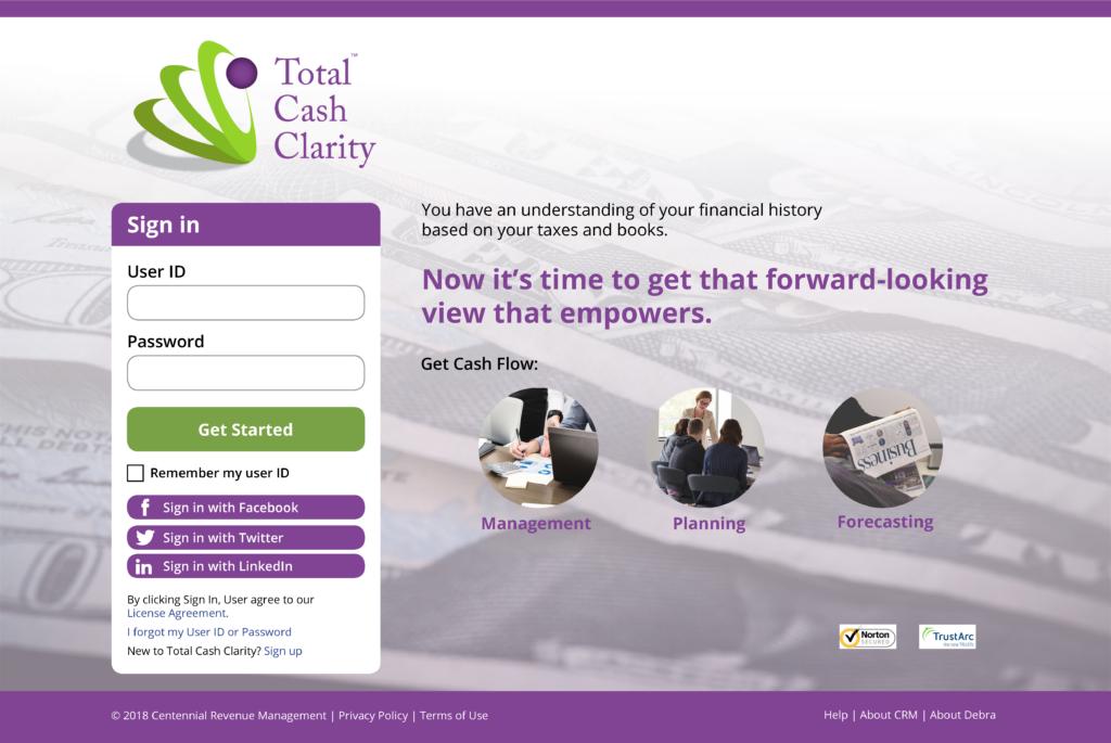 Total Cash Clarity app
